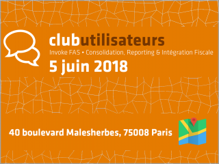 Conso, Reporting & Intégration Fiscale • Club Utilisateurs Invoke FAS