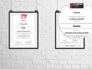 Invoke, Champion de la Croissance pour le deuxième année consécutive