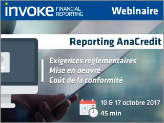 Webinaire AnaCredit • Banque de France • Reporting